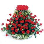 Amasya kaliteli taze ve ucuz çiçekler  41 adet kirmizi gülden sepet tanzimi