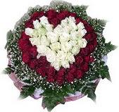 Amasya çiçek mağazası , çiçekçi adresleri  27 adet kirmizi ve beyaz gül sepet içinde