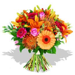 Amasya çiçekçi telefonları  Karisik kir çiçeklerinden görsel demet