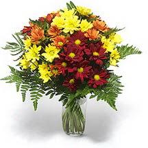 Amasya çiçek siparişi sitesi  Karisik çiçeklerden mevsim vazosu
