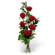 Amasya uluslararası çiçek gönderme  mika yada cam vazoda 6 adet essiz gül