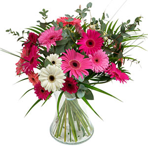 15 adet gerbera ve vazo çiçek tanzimi  Amasya online çiçek gönderme sipariş