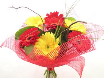 9 adet gerbera çiçeklerinden buket  Amasya çiçek satışı