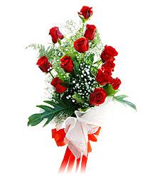 11 adet kirmizi güllerden görsel sölen buket  Amasya çiçek siparişi vermek