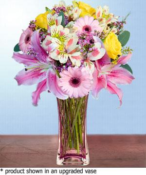 Anneme hediye karisik cam mevsim demeti  Amasya internetten çiçek siparişi