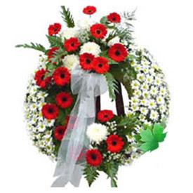 Cenaze çelengi cenaze çiçek modeli  Amasya uluslararası çiçek gönderme