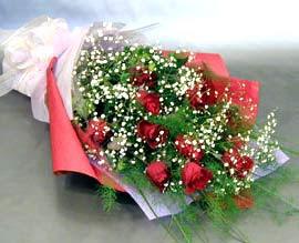 10 adet kirmizi gül çiçegi gönder  Amasya anneler günü çiçek yolla
