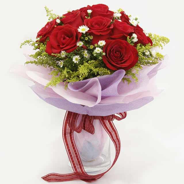 Çiçek gönderme estetikliginiz 11 gül buket  Amasya çiçekçi mağazası