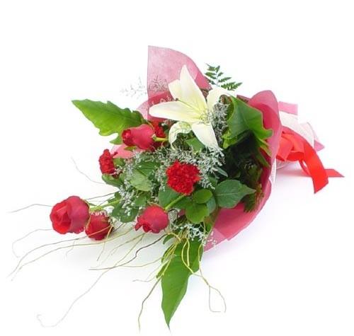 Mevsim çiçeklerinden karisik buket  Amasya cicek , cicekci