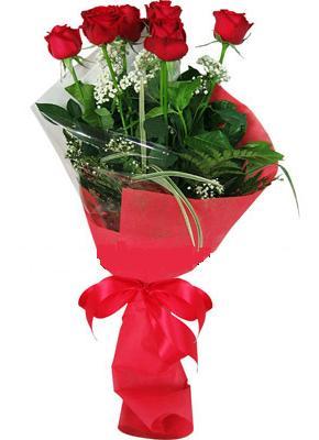 7 adet kirmizi gül buketi  Amasya çiçek yolla , çiçek gönder , çiçekçi