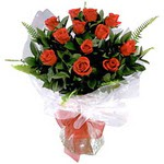 Amasya çiçek , çiçekçi , çiçekçilik  9 adet güzel bir gül buketi