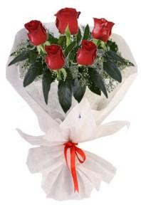 5 adet kirmizi gül buketi  Amasya çiçekçiler