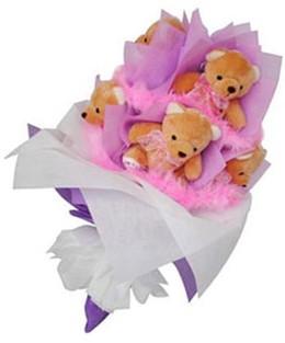 9 adet ayiciktan buket  Amasya hediye sevgilime hediye çiçek