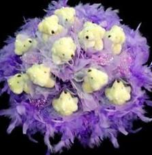 11 adet pelus ayicik buketi  Amasya çiçek , çiçekçi , çiçekçilik