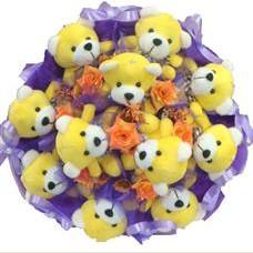 11 adet pelus ayicik buketi  Amasya çiçek mağazası , çiçekçi adresleri
