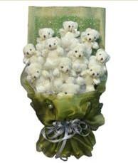 11 adet pelus ayicik buketi  Amasya online çiçek gönderme sipariş