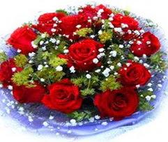 9 adet kirmizi güllerden buket  Amasya çiçekçi telefonları