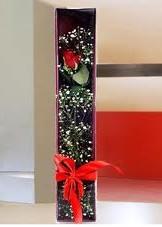 kutu içinde tek kirmizi gül  Amasya çiçek online çiçek siparişi