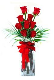 Amasya çiçekçi telefonları  9 adet mika yada cam vazoda gül tanzimi
