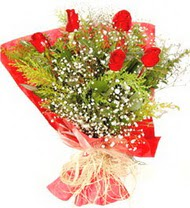 Amasya anneler günü çiçek yolla  5 adet kirmizi gül buketi demeti