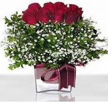 Amasya internetten çiçek satışı  mika yada cam vazo içerisinde 7 adet gül