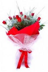 Amasya İnternetten çiçek siparişi  9 adet kirmizi gül buketi demeti