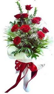 Amasya ucuz çiçek gönder  10 adet kirmizi gül buketi demeti
