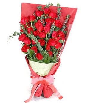 Amasya çiçek gönderme  37 adet kırmızı güllerden buket