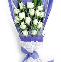 Amasya çiçekçi mağazası  11 adet beyaz gül buket modeli