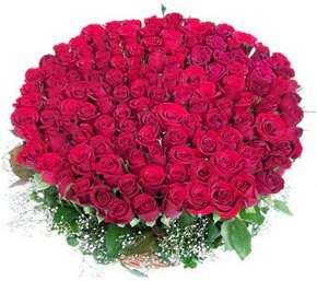 Amasya online çiçekçi , çiçek siparişi  100 adet kırmızı gülden görsel buket