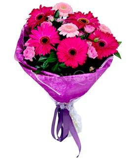Amasya çiçek siparişi sitesi  karışık gerbera çiçeği buketi