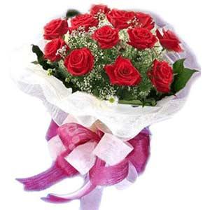 Amasya çiçek satışı  11 adet kırmızı güllerden buket modeli