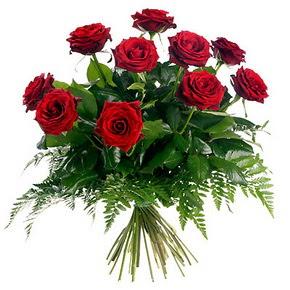 Amasya çiçek gönderme  10 adet kırmızı gülden buket