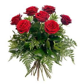 Amasya online çiçek gönderme sipariş  7 adet kırmızı gülden buket
