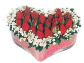 Amasya çiçekçi telefonları  mika kalpte kirmizi güller 9