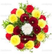 Amasya çiçekçi mağazası  13 adet mevsim çiçeğinden görsel buket