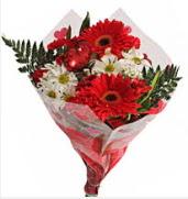 Mevsim çiçeklerinden görsel buket  Amasya çiçekçiler