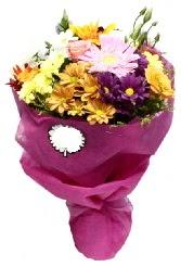 1 demet karışık görsel buket  Amasya anneler günü çiçek yolla