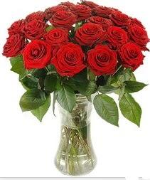 Amasya çiçek mağazası , çiçekçi adresleri  Vazoda 15 adet kırmızı gül tanzimi