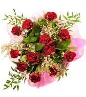12 adet kırmızı gül buketi  Amasya 14 şubat sevgililer günü çiçek