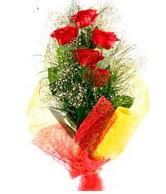 5 li kırmızı gül buketi  Amasya internetten çiçek satışı