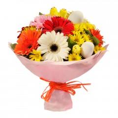 Karışık mevsim buketi Mevsimsel çiçek  Amasya internetten çiçek siparişi