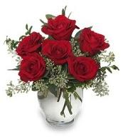 Vazo içerisinde 5 adet kırmızı gül  Amasya çiçekçi mağazası