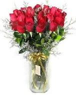 27 adet vazo içerisinde kırmızı gül  Amasya İnternetten çiçek siparişi