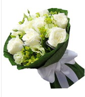 9 adet beyaz gül buketi  Amasya çiçek siparişi sitesi