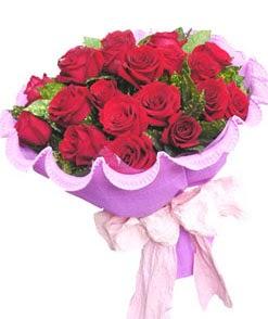 12 adet kırmızı gülden görsel buket  Amasya çiçekçi mağazası