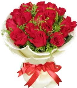 19 adet kırmızı gülden buket tanzimi  Amasya çiçek servisi , çiçekçi adresleri