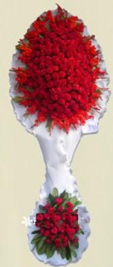 Çift katlı kıpkırmızı düğün açılış çiçeği  Amasya anneler günü çiçek yolla