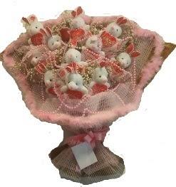 12 adet tavşan buketi  Amasya çiçek mağazası , çiçekçi adresleri