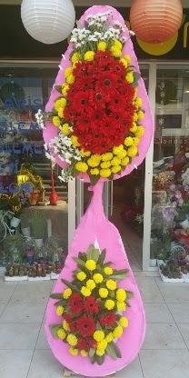 Çift katlı düğün nikah açılış çiçek modeli  Amasya çiçekçiler